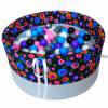 Suchy basen z piłeczkami BabyBall - łowicki na ciemnym tle