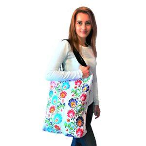 Kolorowe, bawełniane torby