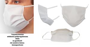 Maska - ochrona z polipropylenu