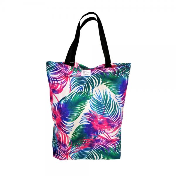 EKO torba bawełniana - palmy na białym tle
