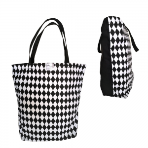 EKO torba bawełniana - romby z czarnym tyłem
