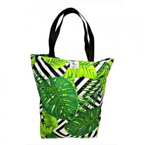 EKO torba bawełniana - zielone liście