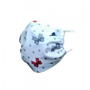 Maseczka ochronna na twarz bawełniana - Kokardki