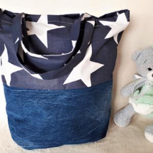 EKO torba bawełniana - gwiazdy z dżinsem