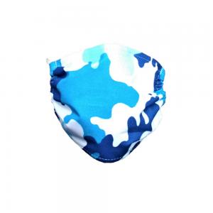 Maseczka ochronna na twarz bawełniana - Moro niebieskie