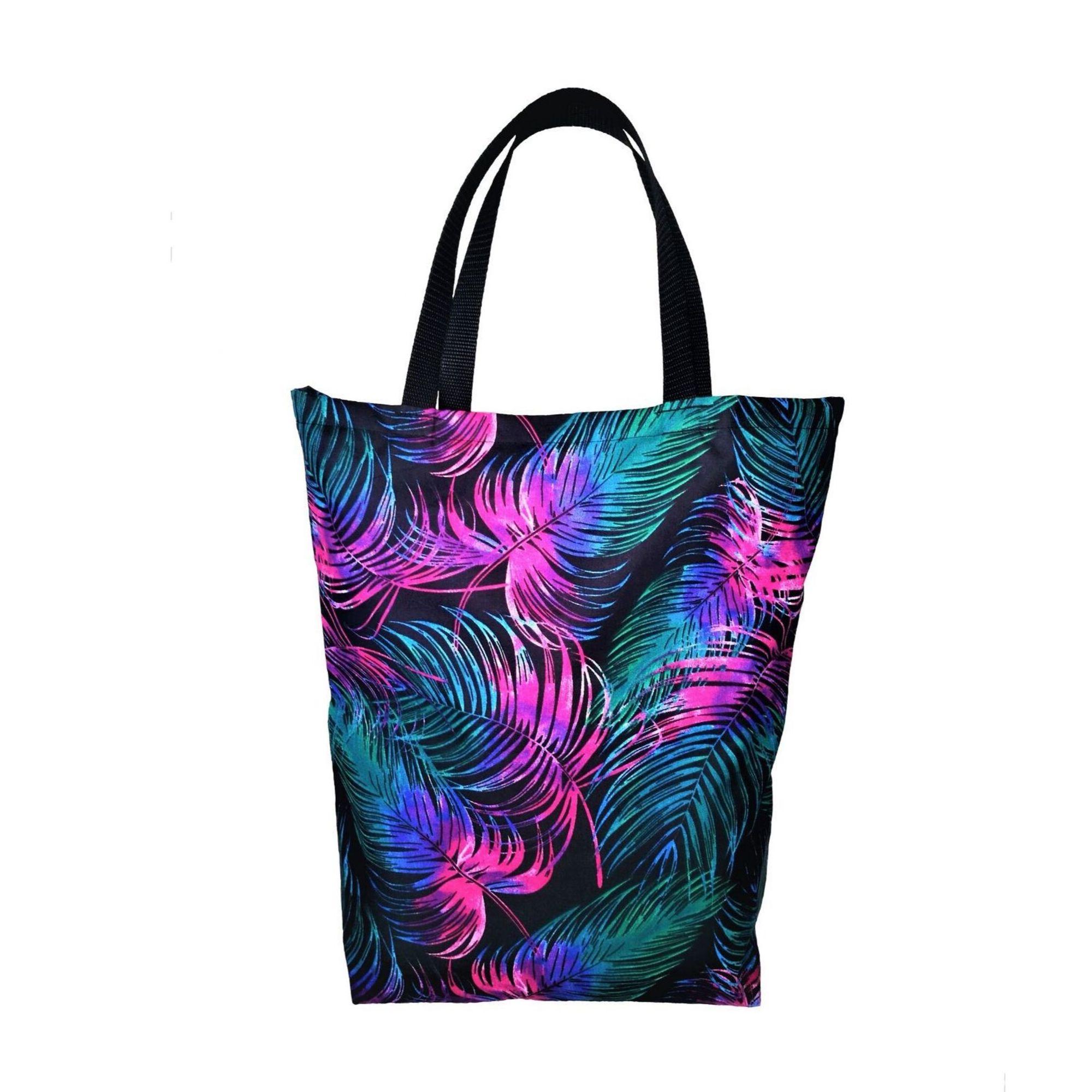 EKO torba bawełniana - fioletowe liście