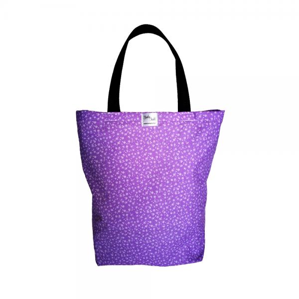 EKO torba bawełniana - fioletowa łączka