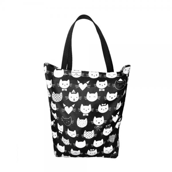 EKO torba bawełniana - koty na ciemnym tle