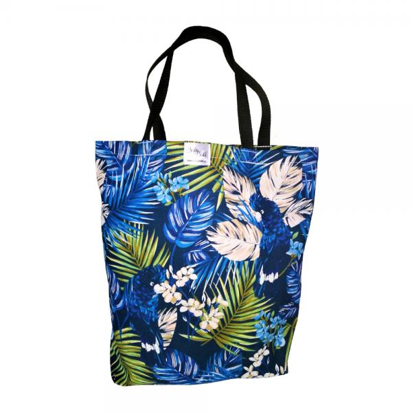 EKO torba bawełniana - niebieskie liście