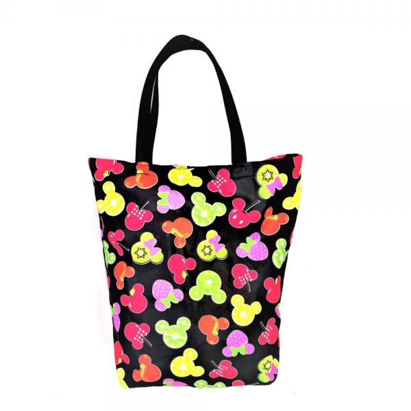 EKO torba bawełniana - owocowe myszki na ciemnym tle