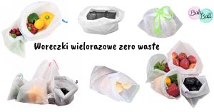 """Woreczki wielorazowe """"zero waste"""""""
