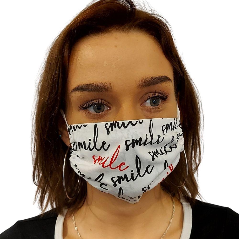 Maseczka ochronna, bawełniana - Smile
