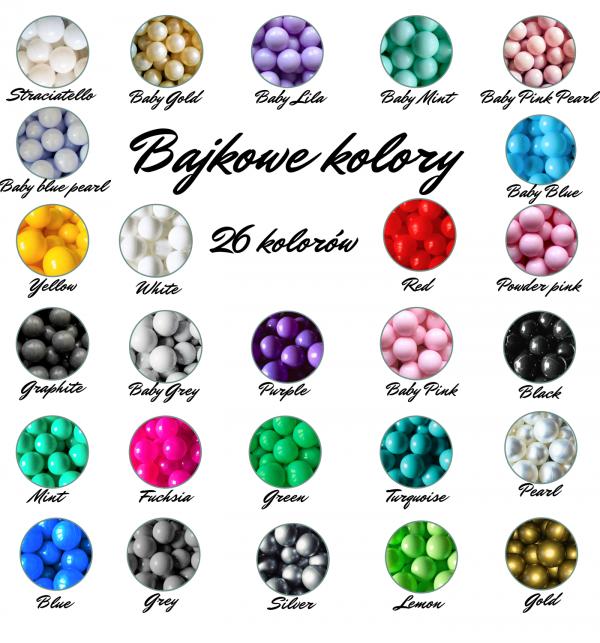 Kolorowe piłki do baseników