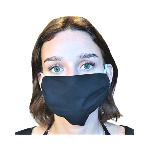 Maska ochronna bawełniana - Czarna