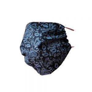Maseczka ochronna bawełniana - Koronka na czarnym