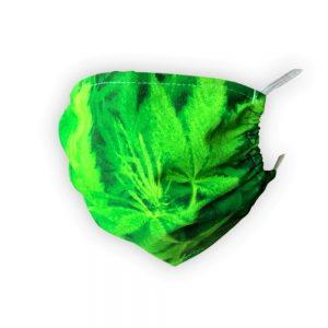 Maseczka ochronna bawełniana - soczysta zieleń