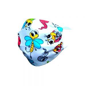 Maseczka ochronna bawełniana dla dzieci - Pszczółki