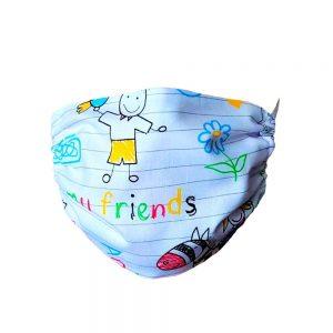 Maseczka ochronna bawełniana dla dzieci - szkoła
