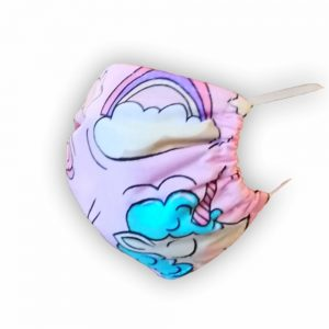 Maseczka ochronna bawełniana - Jednorożec różowy