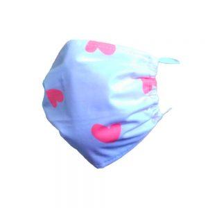 Maseczka ochronna bawełniana dla dzieci- Serduszka