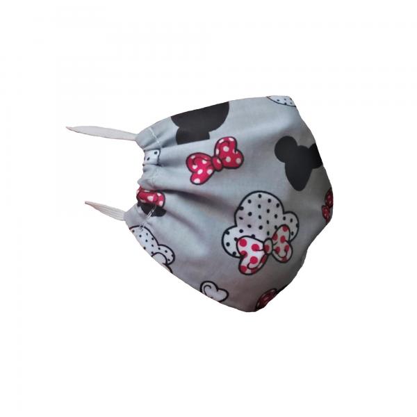 Maska z bawełny z czerwonymi kokardkami