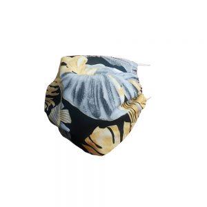 Maseczka ochronna bawełniana - szare i żółte liście