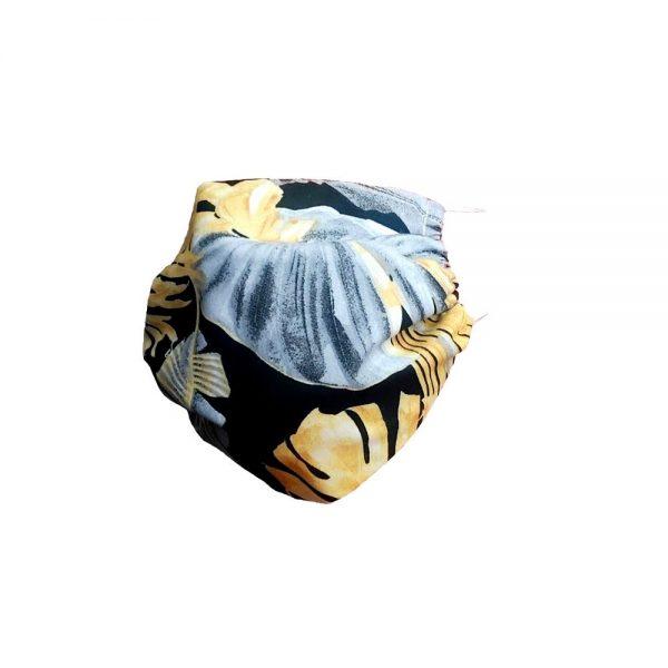 Maska bawełniana w liście