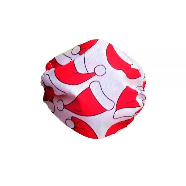 Maska bawełniana z czapeczkami mikołaja