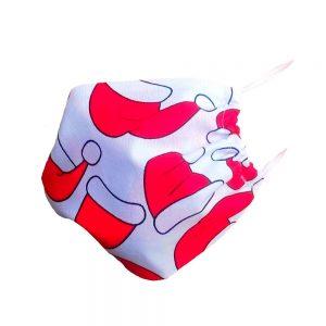 Maseczka ochronna bawełniana dla dzieci - czapeczki mikołaja