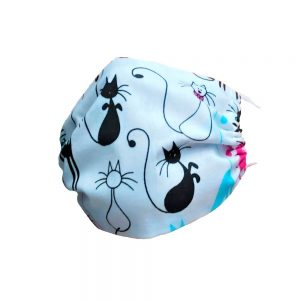 Maseczka ochronna bawełniana dla dzieci - kotki