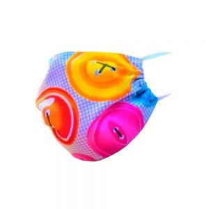 Maseczka ochronna bawełniana dla dzieci - kolorowe guziki