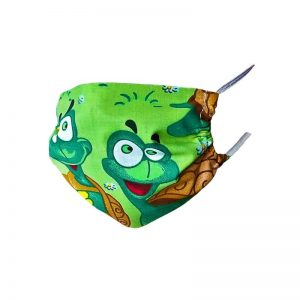 Maseczka ochronna bawełniana dla dzieci - żółwiki